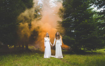 Smoke Grenade Wedding Photography
