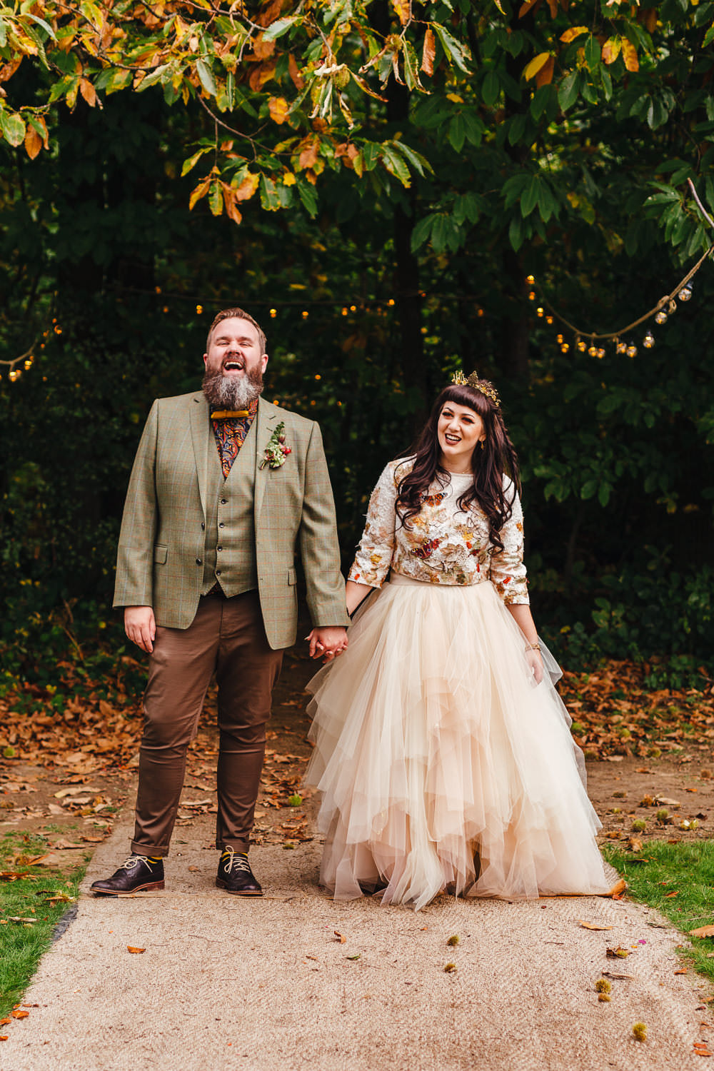 Alternative Bride and Groom Kent Wedding Photographer. Quirky Fun Colourful Kent Wedding Photographer
