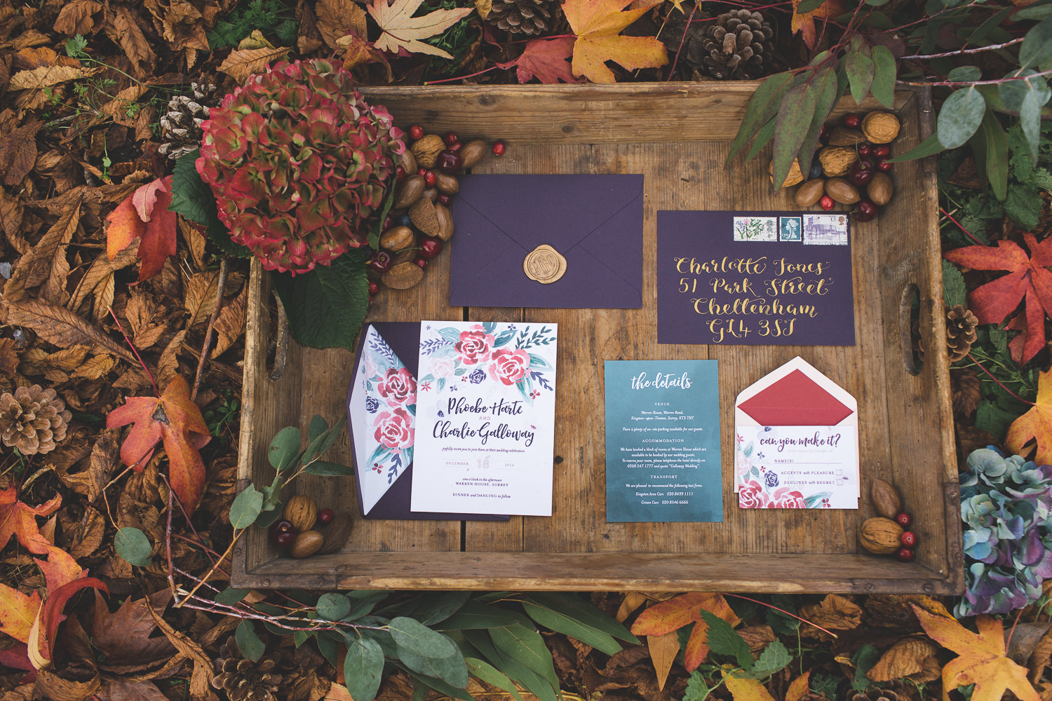 Autumn Wedding Stationery Ideas