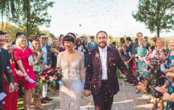 Lovely confetti shot at Cain manor