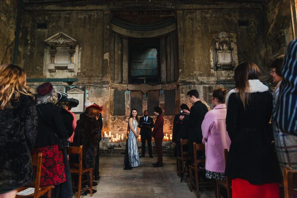 Ceremony at Asylum and Battersea Arts Centre Wedding