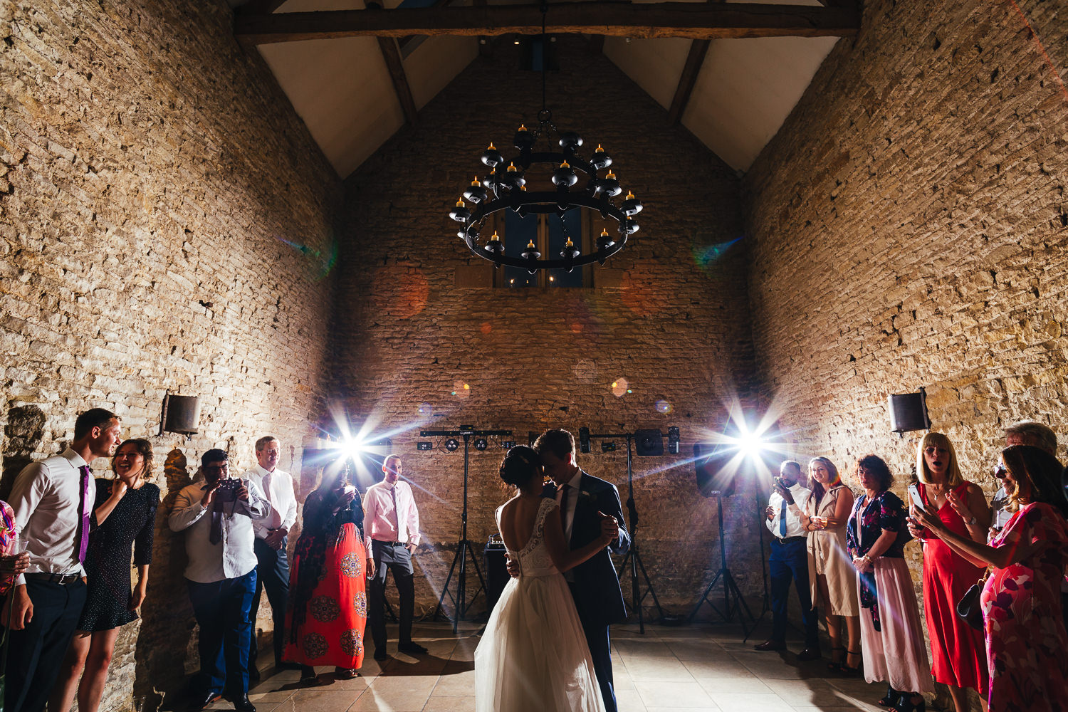 Bride and Groom's first dance at Cripps Stone Barn Wedding Photography