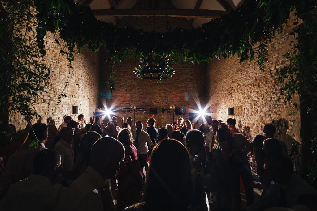 Busy dancefloor during Cripps Stone Barn Wedding Photography