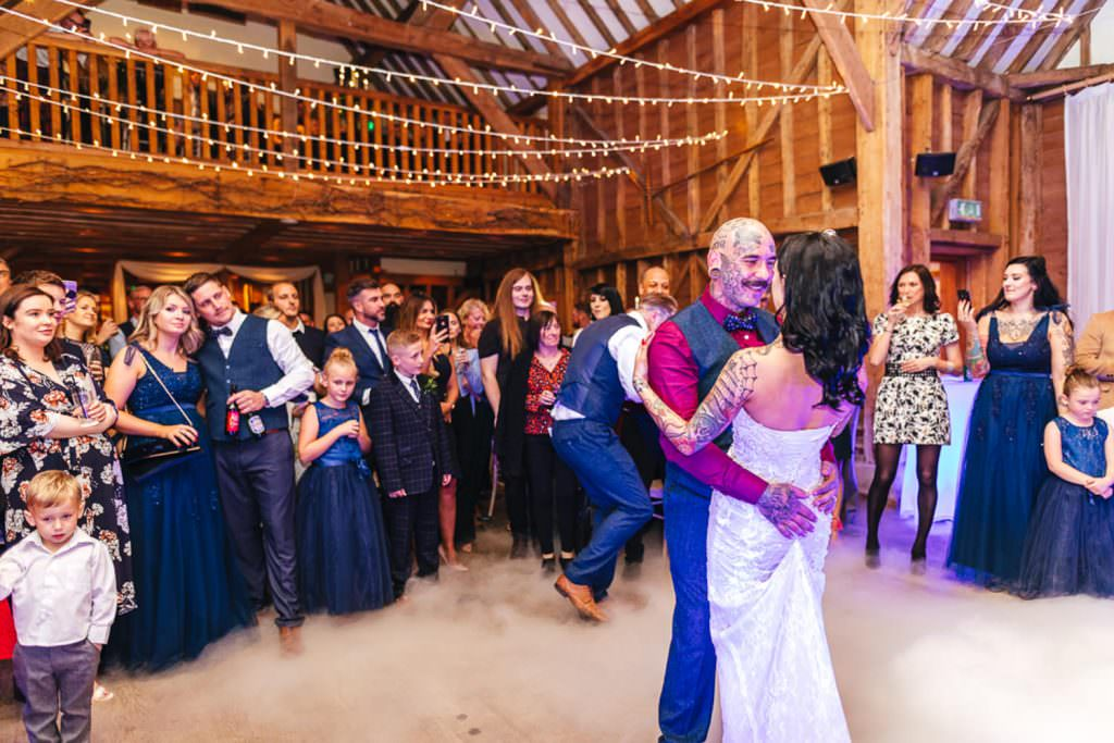 First dance at Vintage Rockabilly meets Peaky Blinders Inspired Wedding in Hertfordshire