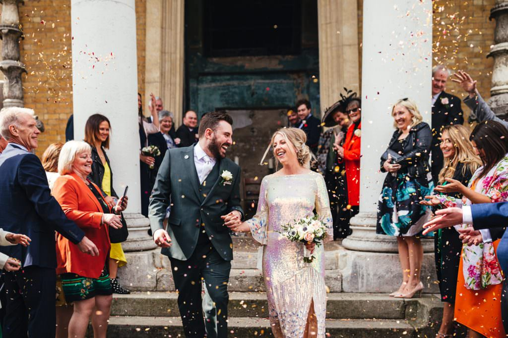 confetti at Asylum wedding photography