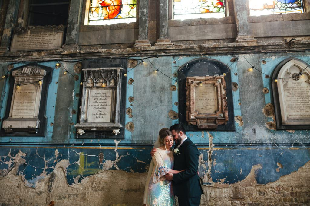 Asylum wedding photography in chapel
