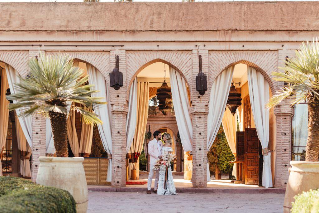 Wedding couple at Beldi Country Club Wedding Morocco