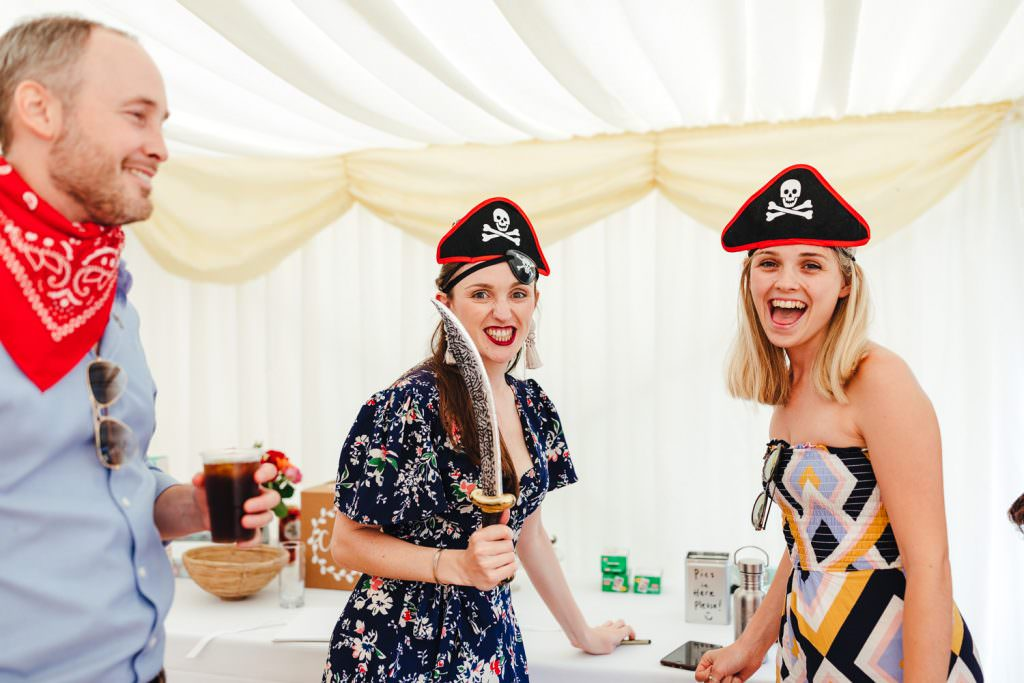 pirate hour during Festival Frickley Lake Wedding | Sussex Wedding Photography