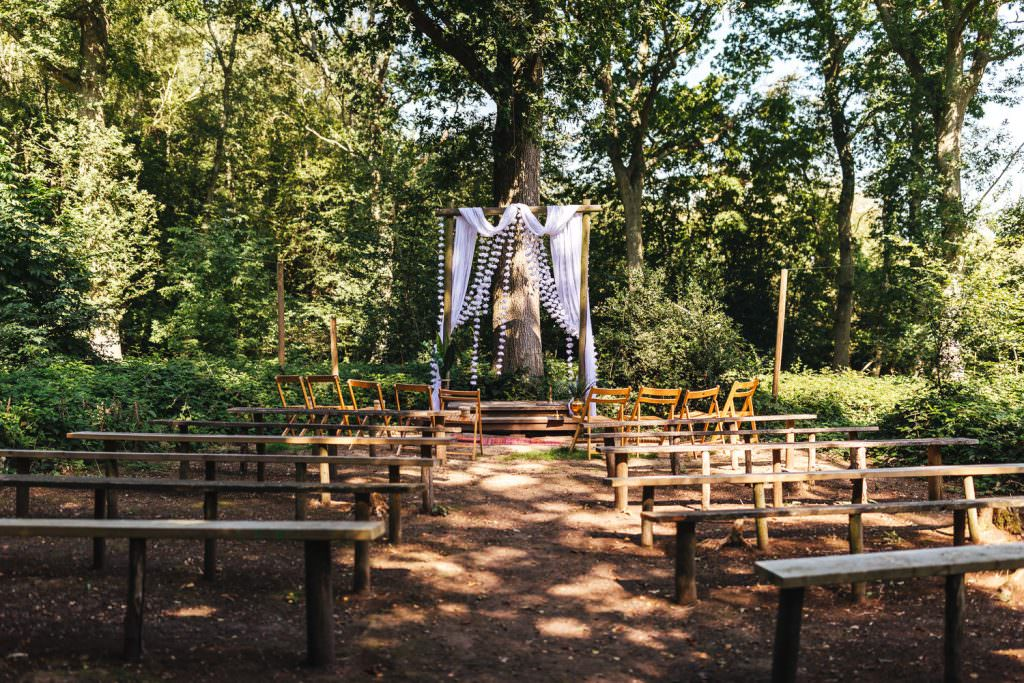 Woodland wedding at Hawthbush Farm Wedding Photography