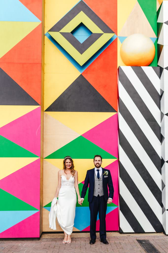 Cool alternative wedding photography in London at No.29 power station west