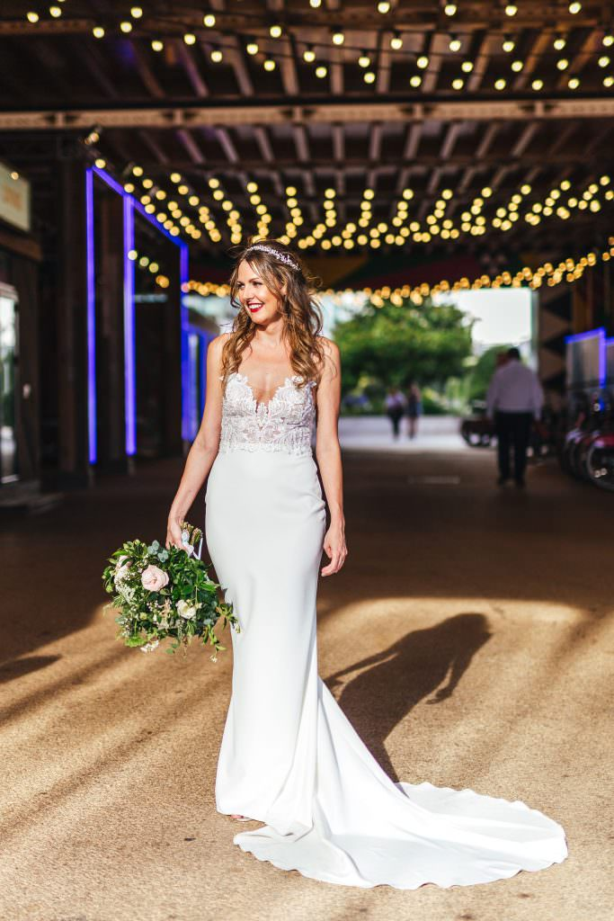 Bridal portrait. Modern and urban style. Cool alternative wedding photography in London at No.29 power station west