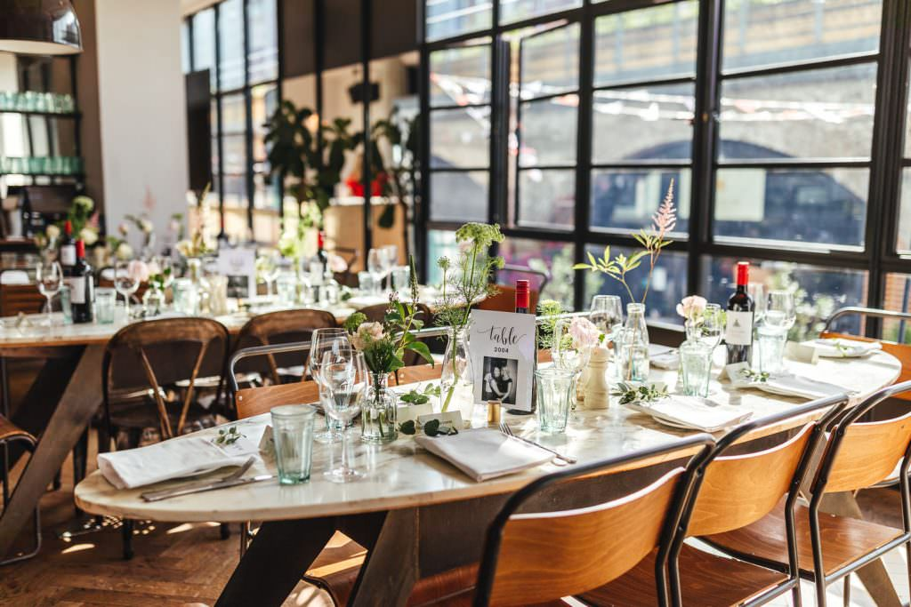 Modern and urban decor at No.29 power station west for wedding