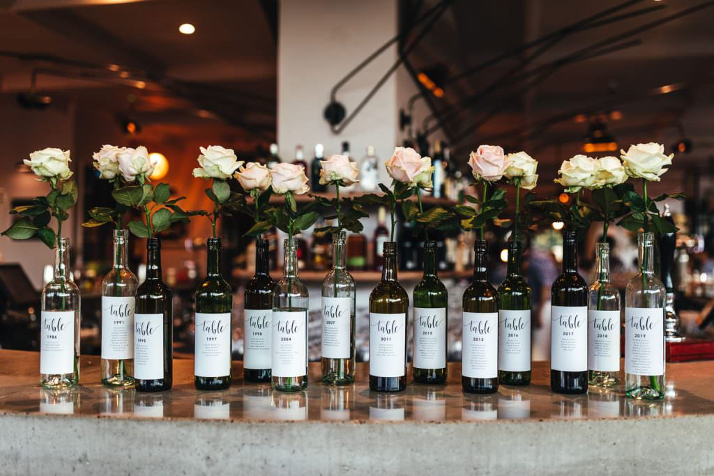 Cool table plan idea. Modern and urban decor at No.29 power station west for wedding