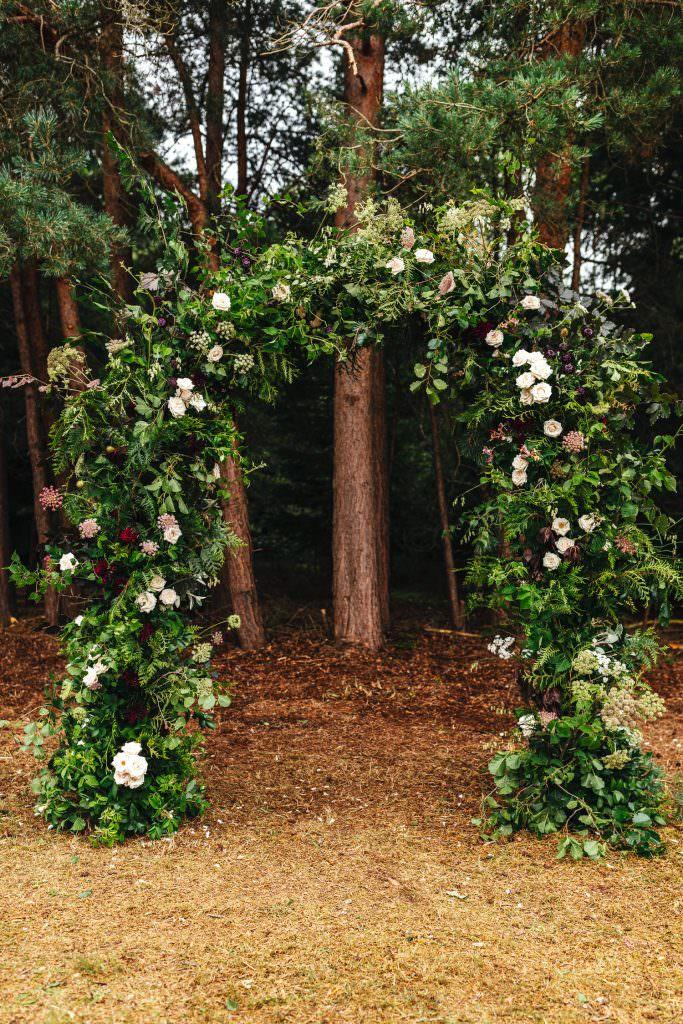 Ceremony backdrop inspiration at Summer Festival Wedding Hampshire Photography