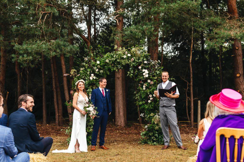Surrey wedding photography. Humanist Wedding Ceremony led by celebrant