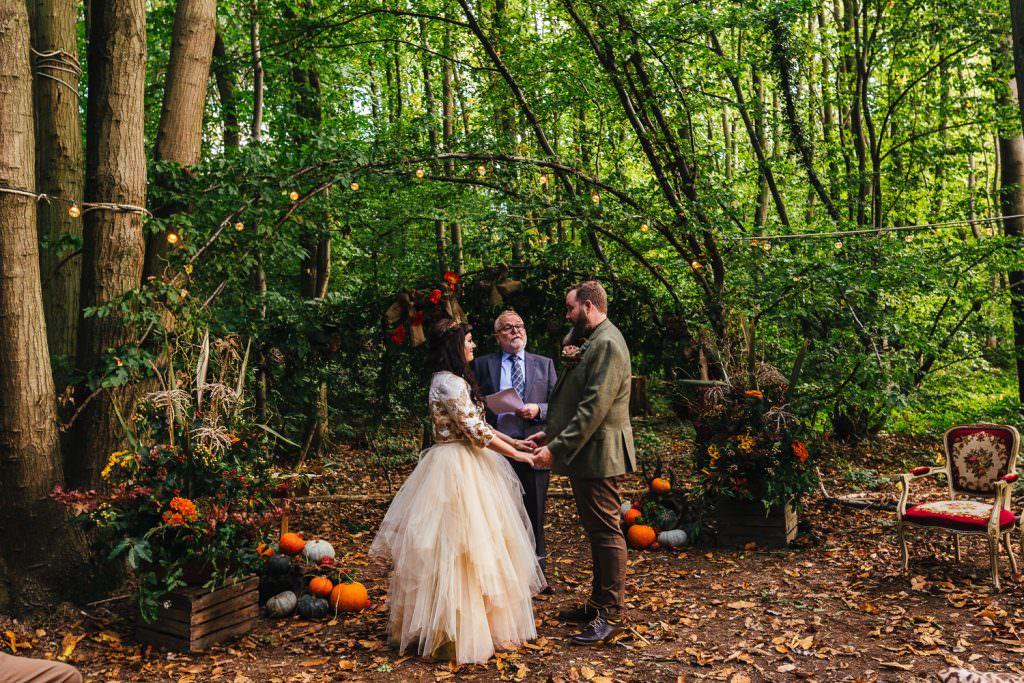 Humanist Wedding Ceremonies. Halloween Woodland Wedding ideas