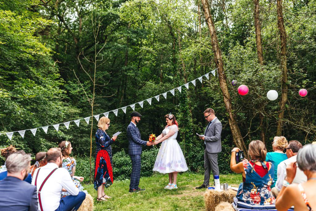 Sussex wedding photography at Frickley Lake. Humanist Wedding Ceremony led by celebrant