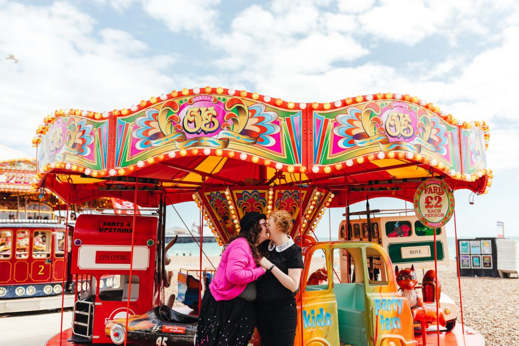 Brighton Couple Shoot | Brighton Wedding Photography | Fun & Natural Wedding Photography for quirky couples. LGBTQ friendly wedding photographer.