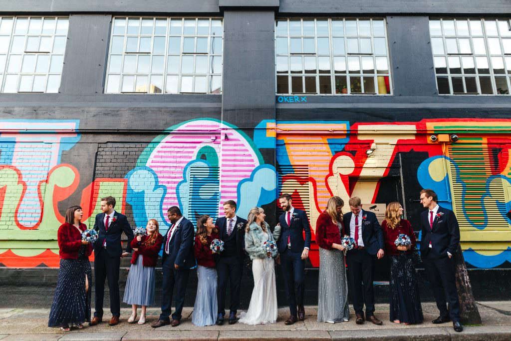 London Wedding Photography | St Barts Brewery Wedding Photography | Winter Wedding Hackney Town Hall shoreditch wedding photography