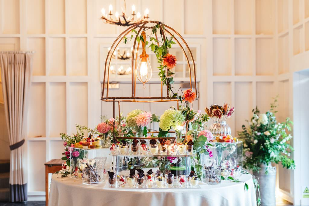 Dessert Table Ideas Festival wedding at Millbridge Court Wedding Photography - Surrey Wedding Photographer