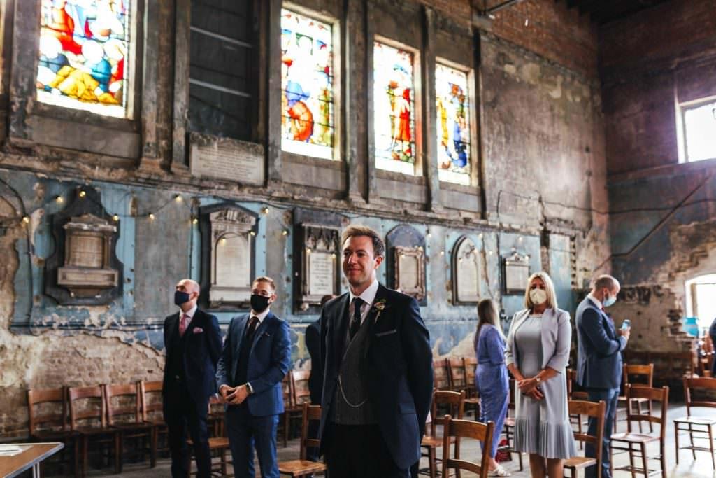 Asylum Micro Wedding Photographer London. Wedding at the asylum chapel