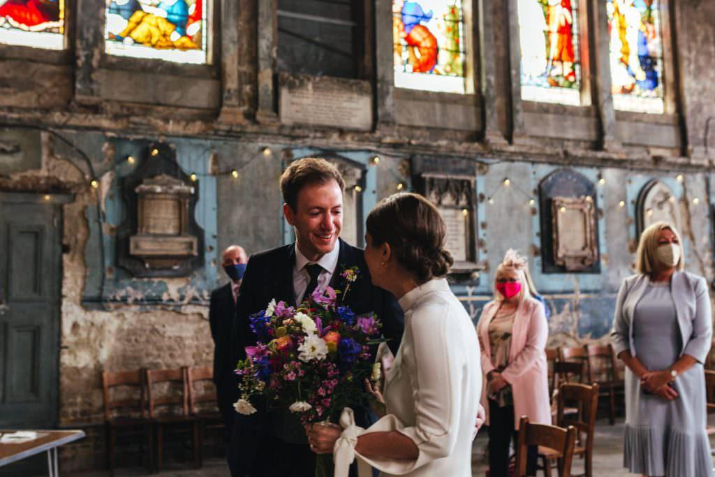 wedding ceremony at Asylum Micro Wedding Photographer London