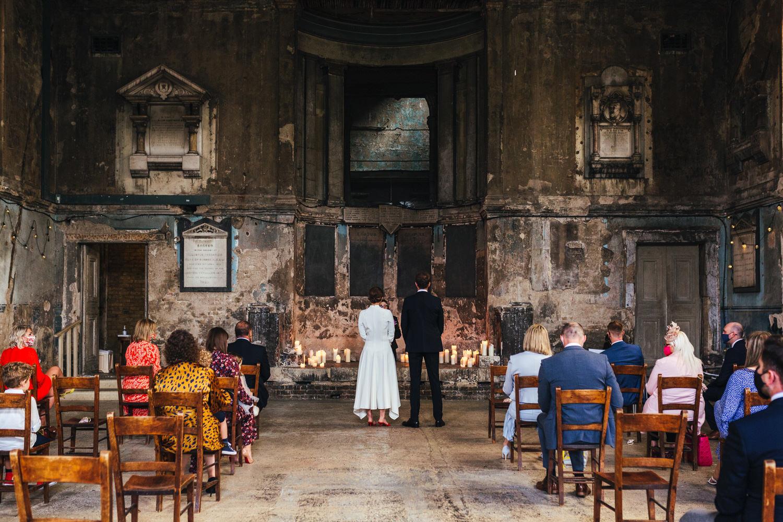 Wedding ceremony at the Asylum Micro Wedding Photographer London