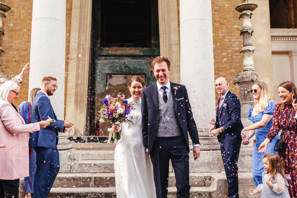confetti exit Asylum Micro Wedding Photographer London