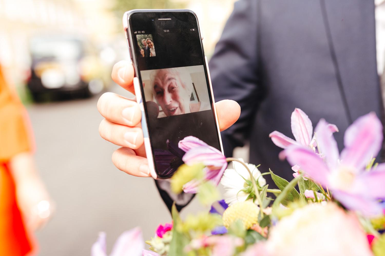 facetime wedding Asylum Micro Wedding Photographer London