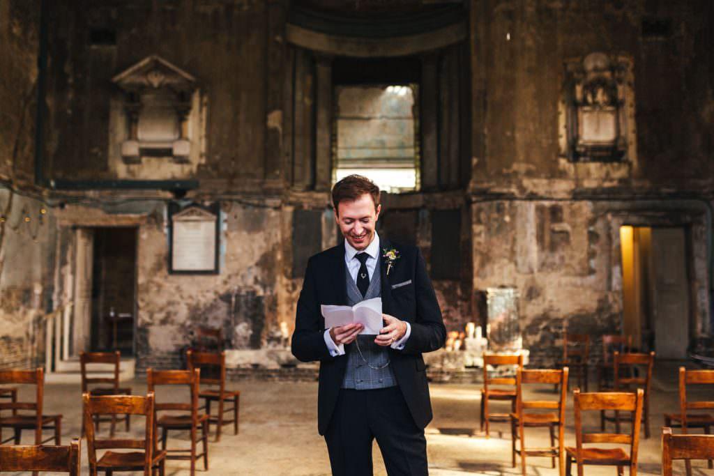 Wedding speech at Asylum Micro Wedding Photographer London