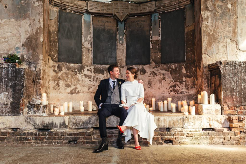 Wedding portraits at Asylum Micro Wedding Photographer London